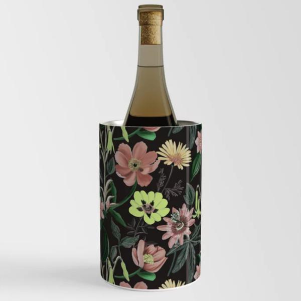 Black-Floral-Wine-Chiller-Happy-People-Prints