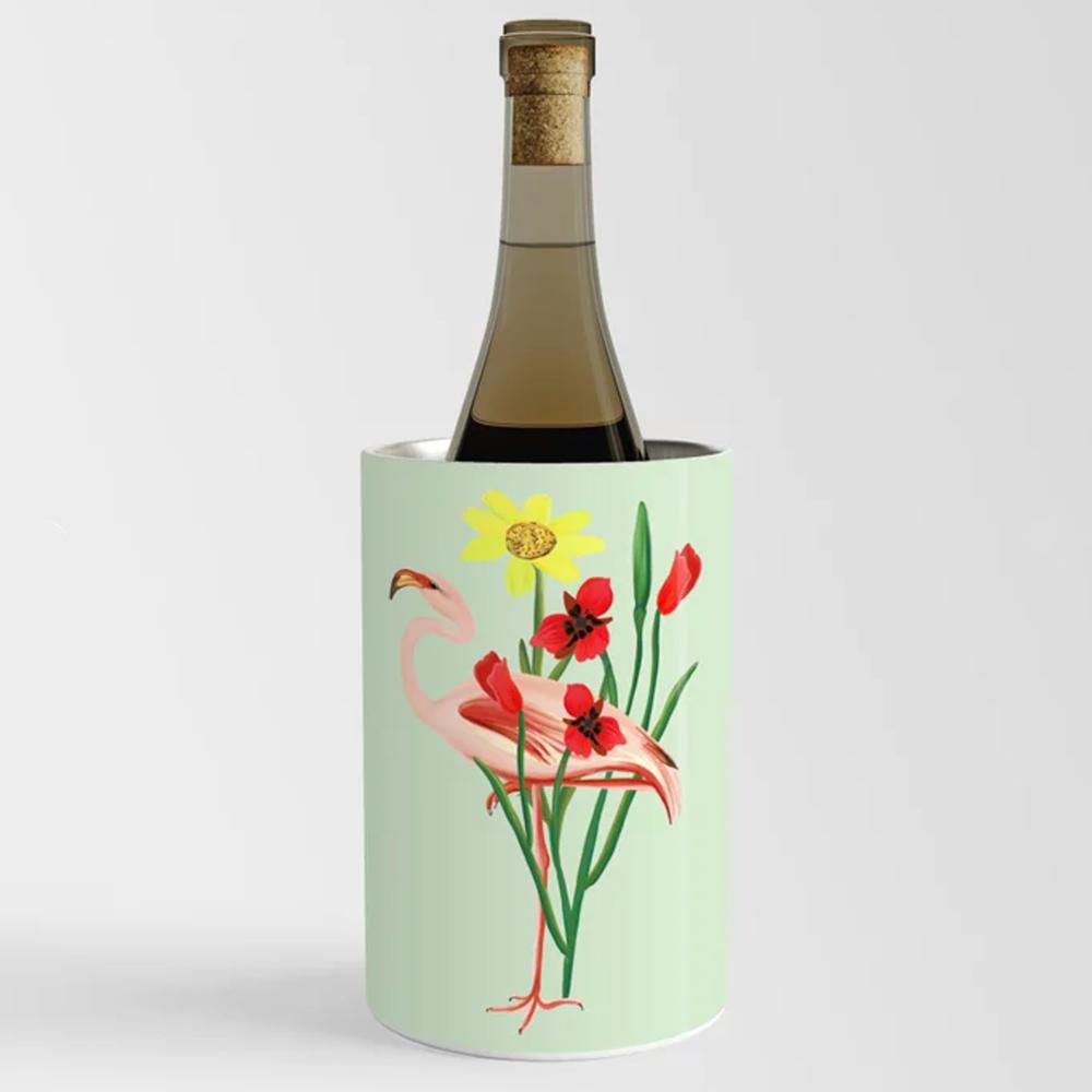 Flamingo Wine Chiller Happy People Prints