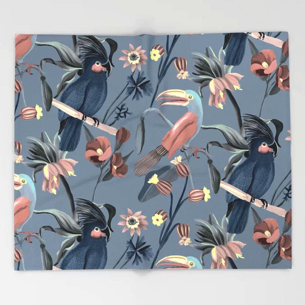 Palm Cockatoo Throw Blanket